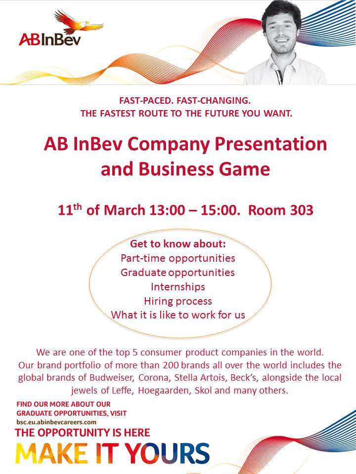 Unyp Elearning Invitation To Ab Inbev Presentation And
