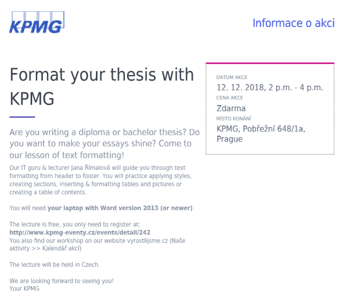 Format your Thesis with KPMG