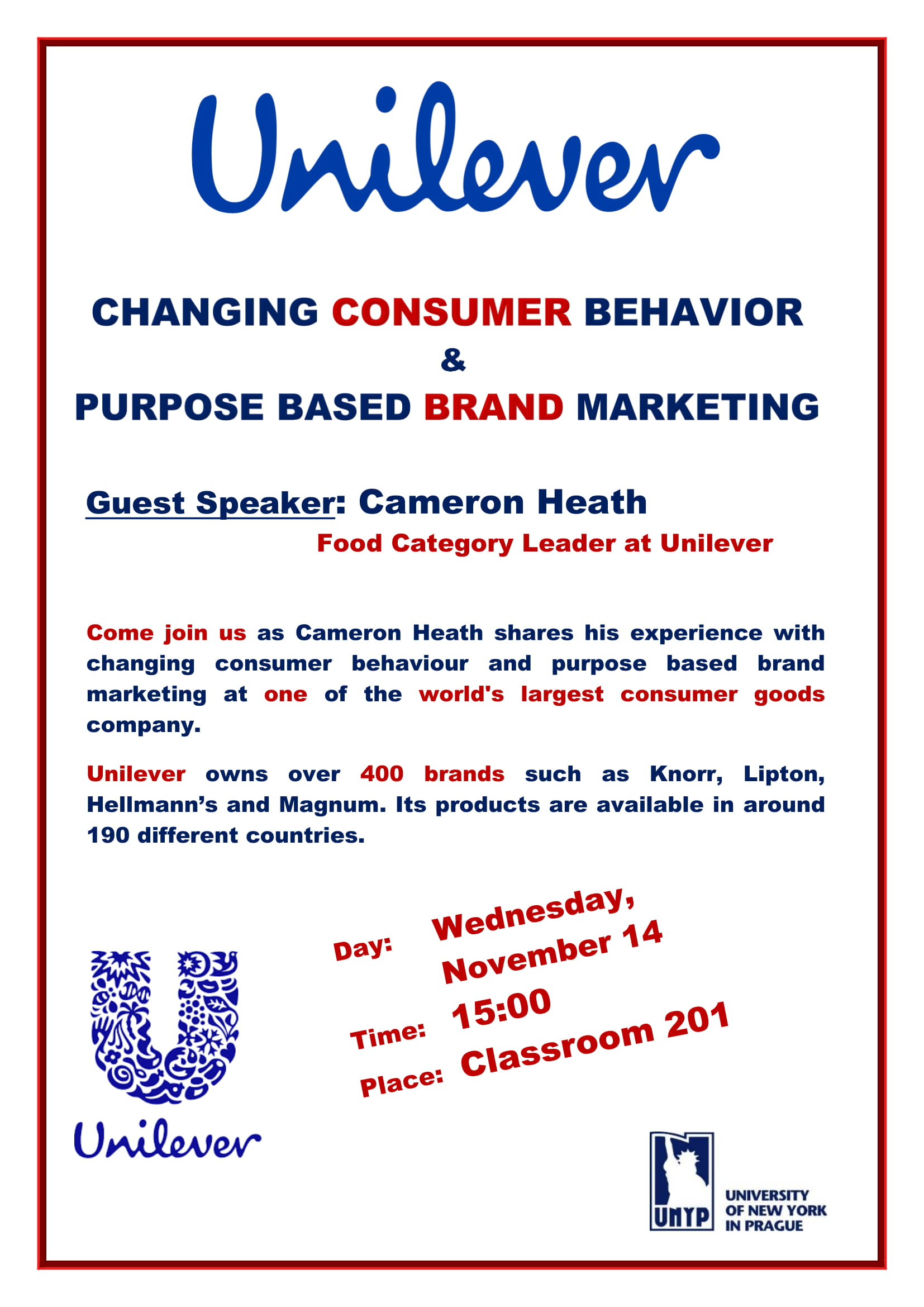 Unilever Consumer Behavior and Brand Marketing Lecture by Cameron Heath